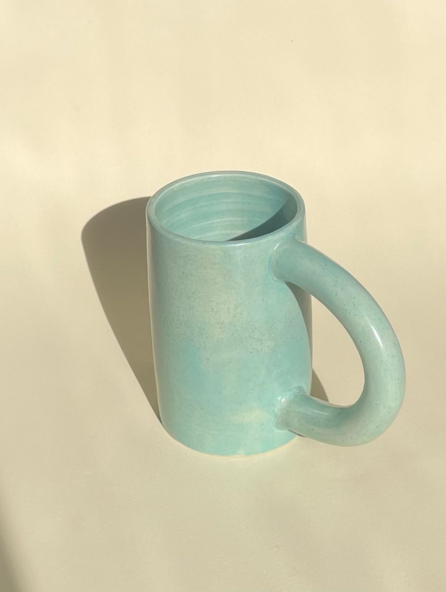 Satin turquoise mug product photo