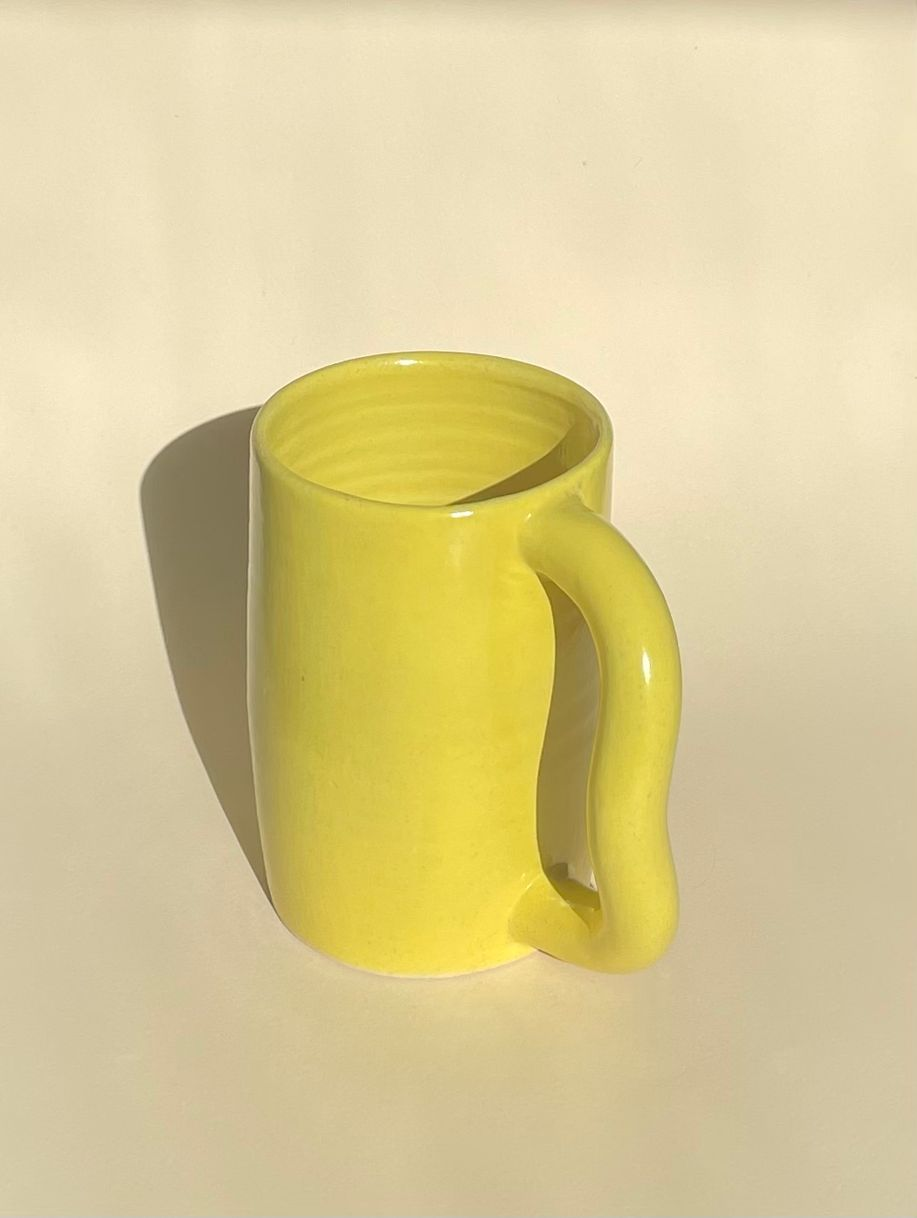 Twist mug (bright yellow) product photo